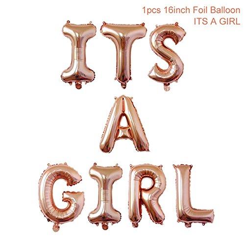 oségold Luftballons Baby Füßchen Folienballons für Luft als Geschenk zur Geburt Eines Mädchen, Baby-Shower-Party Deko Oder Überraschung ()