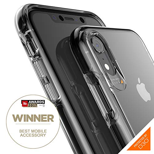 Price comparison product image Gear4 Piccadilly Clear Case with Advanced Impact Protection [ Protected by D3O ],  Slim,  tough design compatible with iphone XR - Black