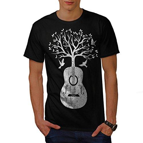 wellcoda Gitarre Musik Baum Männer T-Shirt, Leben