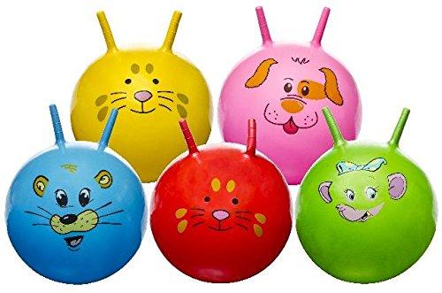 Preisvergleich Produktbild Kinderhüpfball 45 cm, mit Tiergesichtern, Kinder Hüpfball, Springball, macht nicht nur Spass, trainiert auch gleichzeitig