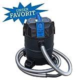 Akwado Teichschlammsauger 4in1, Pool Reiniger, Nass-/Trocken-Sauger und Schlammsauger für den Gartenteich
