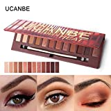 Bobopai 12 Colors Shimmer Matte Eyeshadow Eye Shadow Palette Cosmetic Brush Set