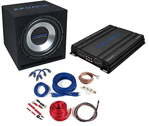 Crunch CBP1000- Audio-Verstärker fürs Auto (schwarz, 50-250Hz, 50-250Hz, 0-12DB, A/B, AC, RCA)
