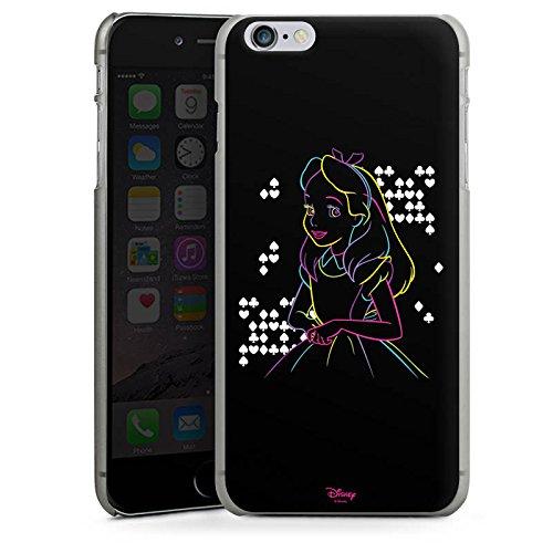 Apple iPhone 8 Tasche Hülle Flip Case Disney Alice im Wunderland Geschenke Hard Case anthrazit-klar