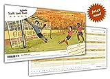arheko Stadt Land Fußball -Kreatives Quiz für Fans und Experten -55 Seiten Block -26 Kategorien im DIN A4 Format -Spiel, Geschenk für Fußballfans
