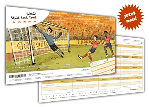 ßball -Kreatives Quiz für Fans und Experten -55 Seiten Block -26 Kategorien im DIN A4 Format –Spiel, Geschenk für Fußballfans (Stadt Fußball)