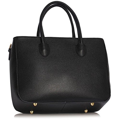 Leahward® Ladies Large Size Patent Cute Tote Bags Large Fashion Eisener Shoulder Handbags Scuola A4 394 Shoulder Bag - Nero