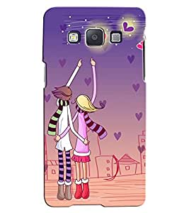 Citydreamz Boy and Girl/Jungle/Trees/Colorful/Couple Hard Polycarbonate Designer Back Case Cover For Samsung Galaxy On5
