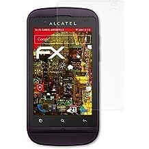 Alcatel One Touch 918D Panzerfolie - 3 x atFoliX FX-Shock-Antireflex blendfreie stoßabsorbierende Panzerschutzfolie Displayschutzfolie