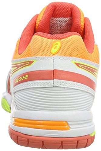 Asics Gel-game 5, Chaussures de Tennis Femme Blanc (White/Hot Coral/Nectarine 0106)