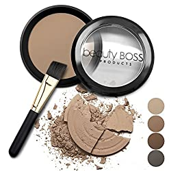Natural Eyebrow Powder Waterproof Fill-in Mineral Coloring Eyebrow Kit Get Perfect Brows includes Brush