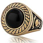 akitsune mortis-Anello minimalista unisex anello di tenuta