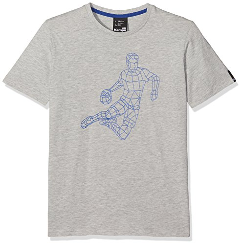Kempa Herren Polygon Player T-Shirt, grau Melange, M