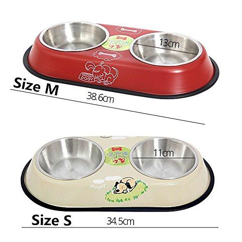 PAWZ Road, Doppel-Fressnapf für Hunde und Katzen – in zwei Größen erhältlich - 3