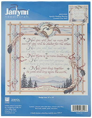 Janlynn 14 Count Apache Wedding Blessing Counted Cross Stitch Kit, 15 by 14-Inch by Janlynn