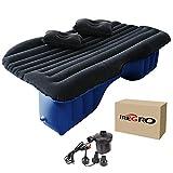 Auto Luftmatratze iRegro SUV Luftmatratze mit Pumpe und zwei Kissen, faltbar Matratze für Auto aufblasbares Bett für Reisen und Camping, leicht zu tragen (blauschwarz)