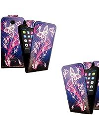 Gr8value Nokia 105 Printed Design PU Leather Stylish Wallet Book Flip Case Cover (Style 7 Flip Case) Nokia 105 Imprimé design PU cuir élégant Porte-monnaie flip book Case Cover papillon