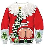 Weihnachtsmann Hintern Pullover 3D gedruckt
