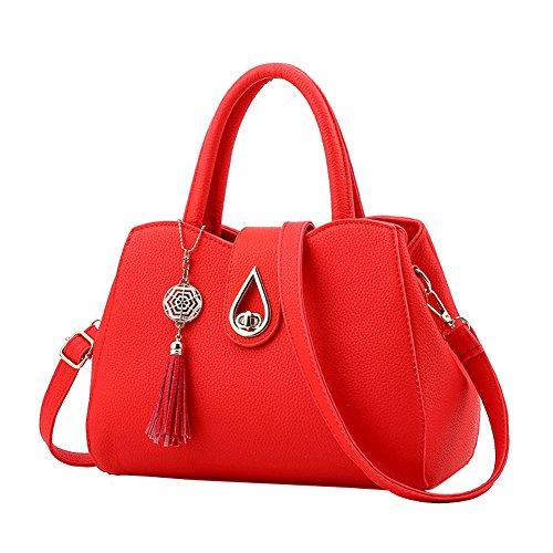 SHUhua , Damen Rucksackhandtasche Rot