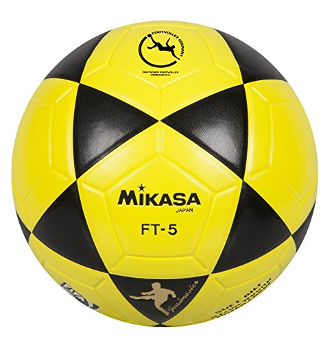 Mikasa Ball Ft-5 Bky F- Balón de fútbol, color negro y amarillo