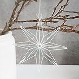 House Doctor - Stern, Weihnachtsstern, Weihnachtsdeko - weiß - 20 cm