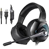 docooler ONIKUMA K6 Cuffie da gioco 3.5mm Wired Over Ear Cuffie Noise  Cancelling E- fa752ac58a02