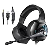 docooler ONIKUMA K6 Cuffie da gioco 3.5mm Wired Over Ear Cuffie Noise  Cancelling E- af4fd51017f0