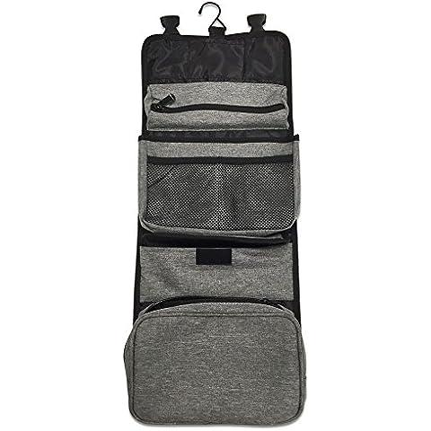 Bolsa de viaje de viaje de higiene personal Todo en uno Kit de artículos de tocador organizador de viajes cosméticos con 7 bolsillos Por D-Jeesian