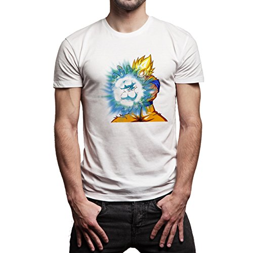 Dragon Ball Gogu Super Saiyan God Kamehameha Dragon Ball Super Herren T-Shirt Weiß