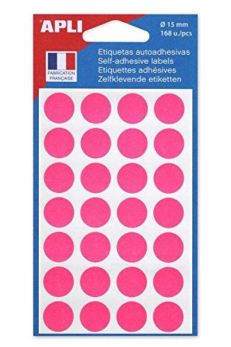 AGIPA Lot de 10 Sachets 168 pastilles de signalisation diam 15 mm Rose