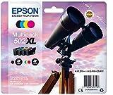 Epson Multipack 4 Farben 502XL Ink Tintenpatrone - Tintenpatronen, Schwarz, Cyan, Magenta, Gelb, Epson, C13T02W64020, Tintenstrahldrucker, hohe Ergiebigkeit (XL), 9,2 ml