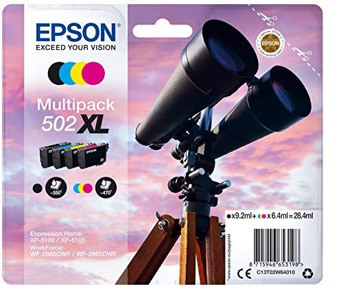 Epson Multipack 4-colours 502XL Ink - Cartouches d'encre (Original, Encre à pigments, Noir, Cyan, Magenta, Jaune, Epson, 4 pièce(s), Impression à jet d'encre) par  Epson