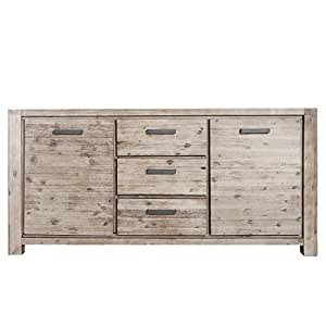 massives sideboard montreal schrank 180cm akazie kommode. Black Bedroom Furniture Sets. Home Design Ideas