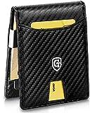 GenTo® Herren Geldbörse Singapore mit Geldklammer und Münzfach - TÜV geprüfter RFID, NFC Schutz - erhältlich in 5 Farben | Design Germany (Carbon)