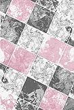 Ayyildiz Moderner Designer Teppich, modern abstrakt geometrisch, verschiedene Farben und Größen, Teppich, Pflegeleicht, 100% Heatset Synthetikfaser, Fussbodengeeignet, MIAMI 6580, 8694257081251