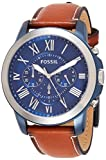 FOSSIL Mens Chronograph Quartz Watch with Leather Strap FS5151