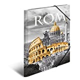 Herma 7268 Sammelmappe DIN A4 Kunststoff, Motiv Italien Rom, Serie Städte, Eckspanner, 1 Zeichenmappe