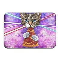 Bai Qian Doormat Cat Eating Pizza Door Mat,Floor Mats 15.7-Inch By 23.6-Inch