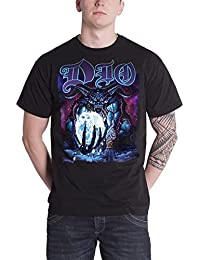 Dio T Shirt Master of The Moon Demon Album Cover Logo Official Mens Black