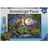 Ravensburger - 12718 - Puzzle Enfant Classique  - Royaume Dinosaures - 200 Pièces XXL