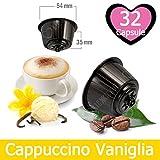 32 Kapseln Nescafé Dolce Gusto Kaffee Kompatibel Vanille Cappuccino - Hergestellt in Italien - Kickkick Kaffee