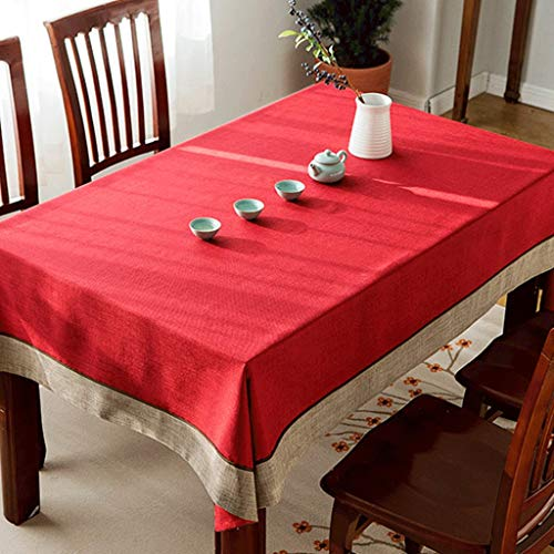 Zuoanchen tovaglie romantica san valentino tavolo da tavolo blu/verde stampato tela tovaglietta per ufficio cucina da pranzo festa nuziale (dimensioni : 140 * 200cm)