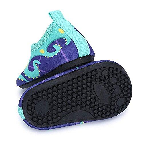 JACKSHIBO Unisex-Kinder Wasserschuhe Jungen Strandschuhe Aqua Schuhe Mädchen Schwimmschuhe Surfschuhe Badeschuhe Blue/1