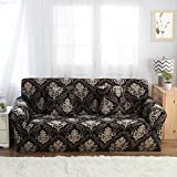 FORCHEER Sofa Covers Printed Couch Cover Stretch Elastic Fabric Loveseat Slipcover Sofa Protector (2 Seater, Printed #7)