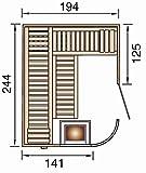 Sauna des Jahres weka Design-Sauna SARA 2 OS - 2