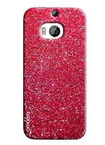 Omnam pink sparkle fully printed designer back cover case for HTC M9 Plus