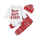 Best Gifts For Young Boys - sunnymi 3Pcs My First Christmas Santa Clothes Set Review