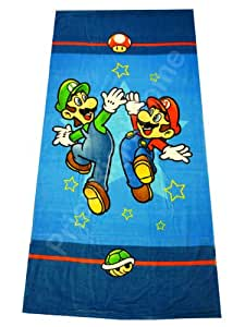serviette de plage mario bros jeux et jouets. Black Bedroom Furniture Sets. Home Design Ideas