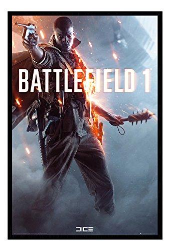 Battlefield 1 Main Image Poster Black Framed & Satin for sale  Delivered anywhere in UK