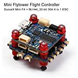 LITEBEE Sussex Mini F4 Flight Controller con OSD e BLHeli_32-Bit 35A 4-in 1 ESC Flytower Set (F405 MCU FC, accelerometro Integrato MPU6000 e giroscopio)